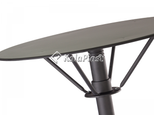 میز فلزی گرد تک پایه