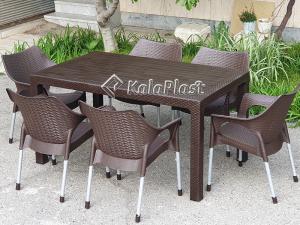 ست میز و صندلی شش نفره موناکو 991321