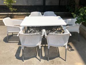 ست میز و صندلی 6 نفره نسترن 180-218