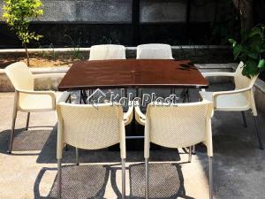 ست میز و صندلی 6 نفره نیلوفر 182-218