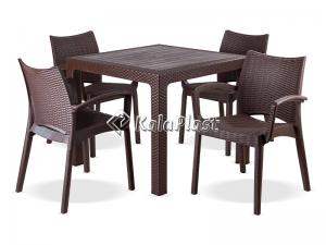 ست میز و صندلی 4 نفره بامبو کد 804323
