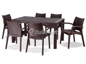 ست میز و صندلی 6 نفره بامبو کد 804321