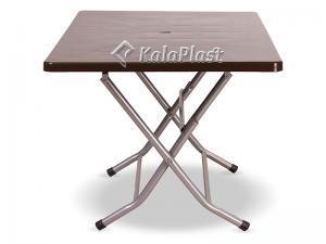 میز 6 نفره مستطیل تاشو با پایه فلزی کد 218