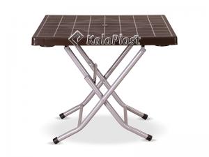 میز 4 نفره مربع تاشو با پایه فلزی کد 222
