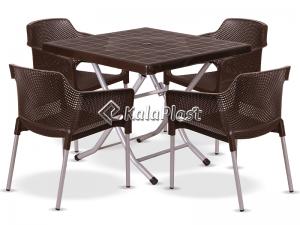 ست میز و صندلی 4 نفره نسترن 180-222