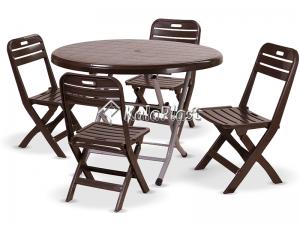 ست میز وصندلی 4 نفره  تاشو گلناز 215 109