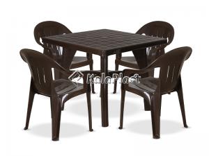 ست میز و صندلی 4 نفره ارغوان 122 112