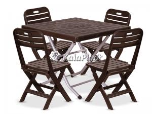 ست میز و صندلی 4 نفره تاشو لوتوس 222 109