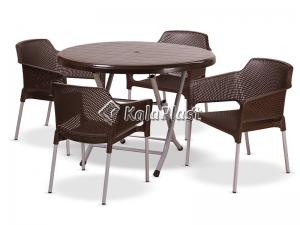 ست 4 نفره میز وصندلی شقایق 215 180