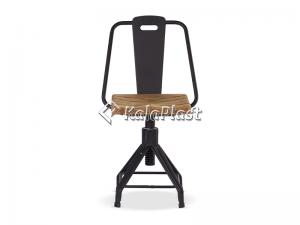 صندلی چرخشی نوید با رویه چوب ( ترمو وود )