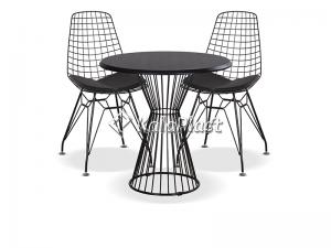 ست میز و صندلی فلزی 4 نفره پاپیتال