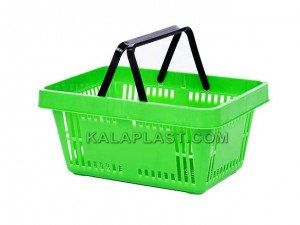 سبد خرید بدون چرخ دو دسته 28 لیتری پلاستیکی