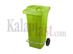سطل پدالی و چرخدار 120 لیتری سبز1.jpg