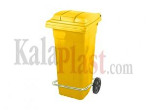 سطل پدالی و چرخدار 120 لیتری زرد1.jpg
