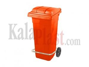 سطل پدالی و چرخدار 120 لیتری نارنجی1.jpg