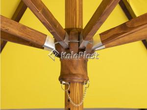 چتر هشت ضلعی قطر 4 متر با بدنه تمام چوب