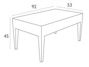 میز جلو مبلی حصیری پلاستیکی
