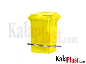 سطل پدالدار 60 لیتری با پدال فلزی زرد 1.jpg