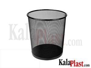 سطل کاغذ گرد فلزی