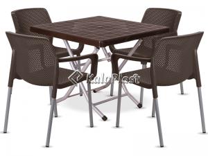 ست میز و صندلی 4 نفره نیلوفر 182-222