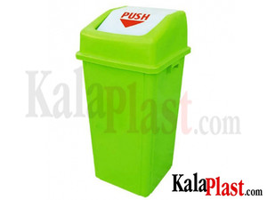 سطل زباله بادبزنی 120 لیتری با درب دمپری سبلان