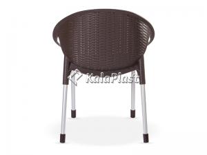 صندلی دسته دار حصیری فانتزی با پایه فلزی کد 996