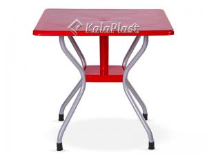 میز 4 نفره مربع پایه فلزی کد 923