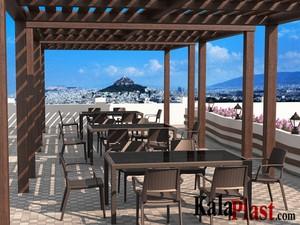 میز 6 نفره مستطیل حصیری با صفحه شیشه برنز تاهیتی  5.jpg