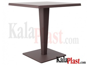 میز 4 نفره مربع تک پایه آلومینیومی حصیری ریوا 1.jpg