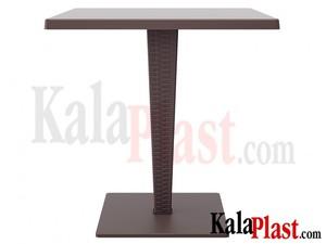 میز 4 نفره مربع تک پایه آلومینیومی حصیری ریوا.jpg