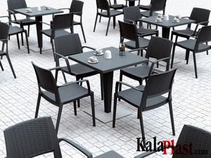 میز 4 نفره مربع تک پایه آلومینیومی حصیری ریوا 2.jpg