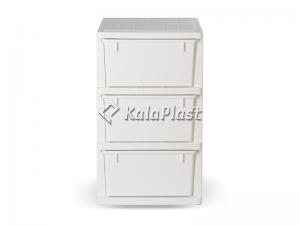 فایل 3 طبقه پلاستیکی پهن دل آسا D119-XY3