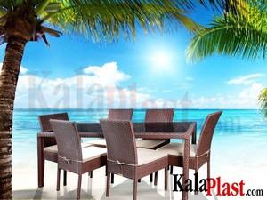 ست میز و صندلی کارنز 6 نفره (میز 180 cm)