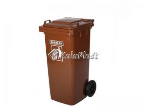 سطل زباله پلاستیکی 100 لیتری چرخدار سبلان