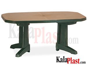 میز نیم بیضی طرح چوب.jpg