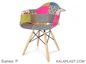 صندلی پارچه ای دسته دار با پایه چوبی ایمیز