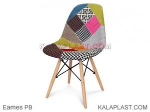 صندلی پارچه ای بدون دسته با پایه چوبی ایمیز