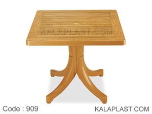 میز 4 نفره مربع پلاستیکی طرح چوب کد 909