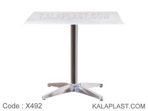 میز 4 نفره صفحه PVC با پایه چهارپر دایکاست کد X492