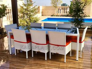 ست میز و صندلی تراس 8 نفره ( میز 200 cm)