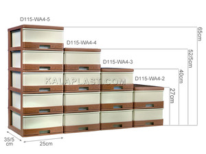 فایل 2 طبقه سایز A4 حصیرباف دل آسا D115-WA4-2