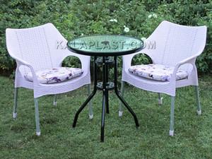 ست میز و صندلی 2 نفره ونیز با تشک کد S270T