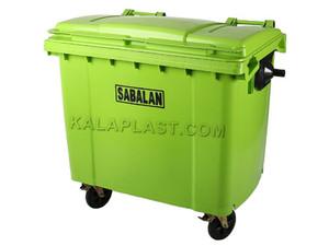 سطل زباله 660 لیتری مکانیزه پلی اتیلن شهری