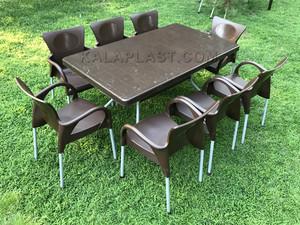 ست میز و صندلی 8 نفره کد S870
