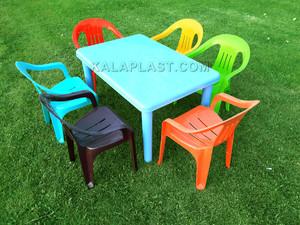 ست میز و صندلی کودک 6 نفره کد S162