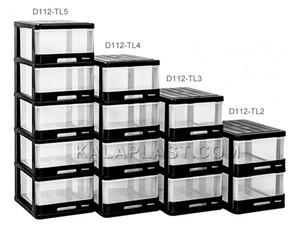 فایل 2 طبقه لارج شفاف دل آسا D112-TL-2