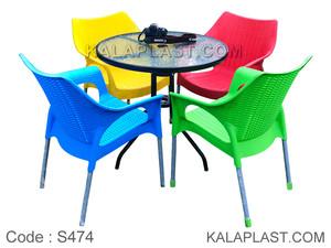 ست میز و صندلی 4 نفره ونیز کد S474