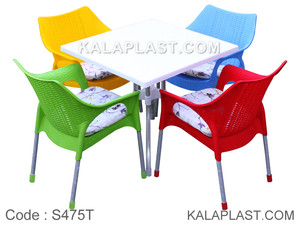 ست میز و صندلی 4 نفره لیما با تشک کد S475T