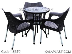 ست میز و صندلی 3 نفره ونیز کد S370