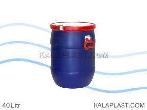 بشکه پلاستیکی 40 لیتری افق با کمربند پلاستیکی